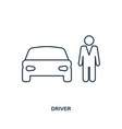 car driver icon outline style icon design ui vector image vector image