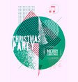 christmas party grunge geometric poster vector image