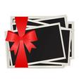 Christmas photos vector image