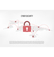 closed padlock on internet hacker background vector image
