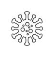 coronavirus covid19-19 thin line icon