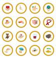 donate given cartoon icon circle vector image vector image