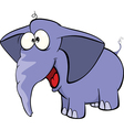 elephant calf cartoon vector image vector image