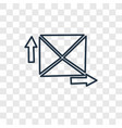 express mail concept linear icon isolated on vector image