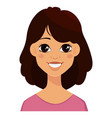 face expressions of a cute woman vector image