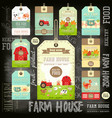 farm price tag label collection vector image