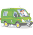fast delivery van vector image
