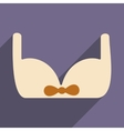 Flat with shadow icon and mobile applacation bra vector image vector image
