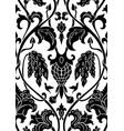 floral black pattern vector image