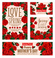 flower card for spring season or mother day design vector image vector image