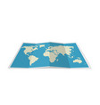 folded world map vector image