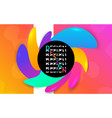 futuristic banner template color shapes fluid vector image