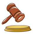 hammer of the judge icon cartoon style vector image