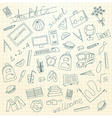 Hand drawn school background vector image vector image