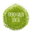 handwritten word french green lentil vector image vector image