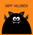 happy halloween card funny monster head vector image vector image