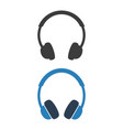 headphone icon on white background vector image