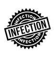 infection rubber stamp vector image vector image