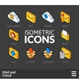 Isometric outline icons set 29 vector image vector image