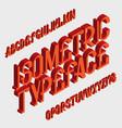 isometric typeface isolated english 3d alphabet vector image