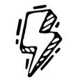 lightning sign a sign vector image