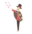magician doing a trick - cartoon people character vector image