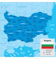 map bulgaria vector image