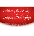 merry christmas and happy new year text on red vector image vector image