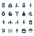 mothers day icon design concept set of 20 such vector image vector image