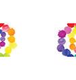 multicolored watercolor splash background vector image vector image