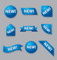 new promotion labels vector image vector image