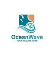 ocean waves emblem vector image vector image