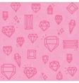 Pink diamonds vector image