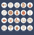 pottery workshop ceramics classes line icons vector image vector image