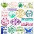 premium quality stamp logo product mark retro vector image