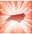 Red North Carolina vector image vector image