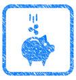 ripple piggy bank framed stamp vector image vector image