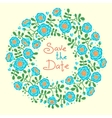 Save The Date Invitation with Floral Wreath vector image vector image
