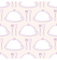 Seamless pattern with hand drawn serve dish vector image vector image