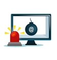 security system data alert design vector image vector image