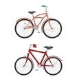 set of models of bicycles isolated icon design vector image vector image