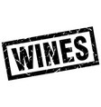 square grunge black wines stamp vector image vector image