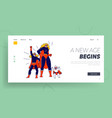 superfamily landing page template family mother vector image vector image