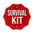 survival kit label or sticker vector image vector image