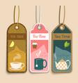 Tea labels set vector image