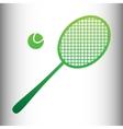 Tennis racquet icon vector image