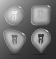 Tooth Glass buttons vector image vector image