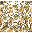 Tree branches seamless pattern vector image vector image