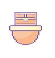 video game treasure chest in digital platform vector image vector image