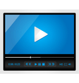Video player for web minimalistic design vector | Price: 3 Credits (USD $3)